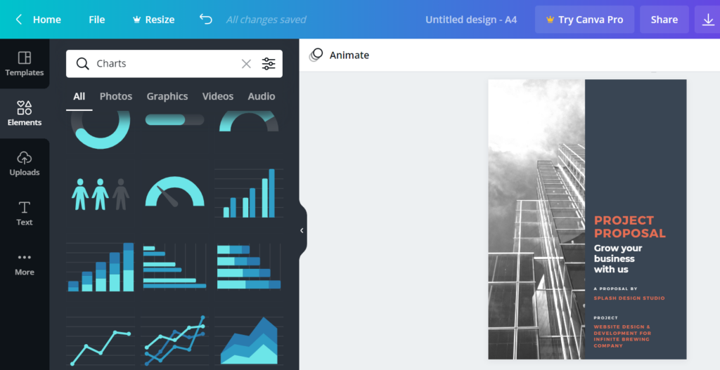 canva.com – design graphics and documents like a professional