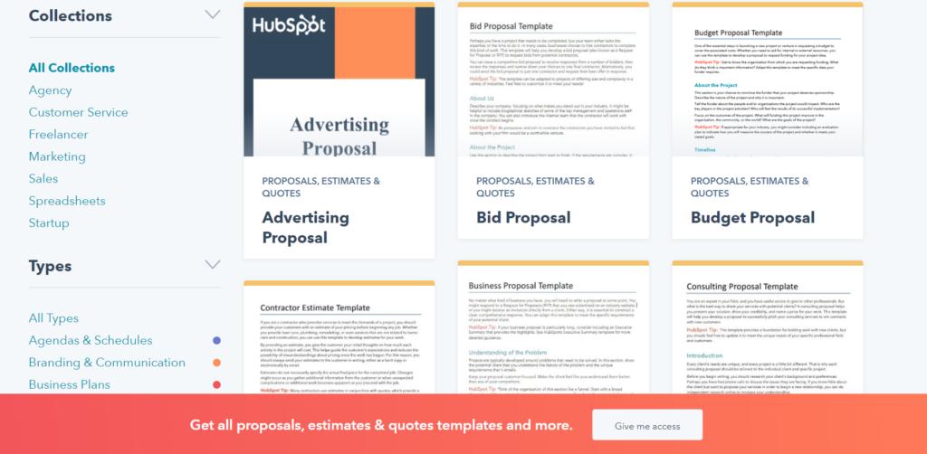 hubspot.com – grab a free business proposal template in PDF