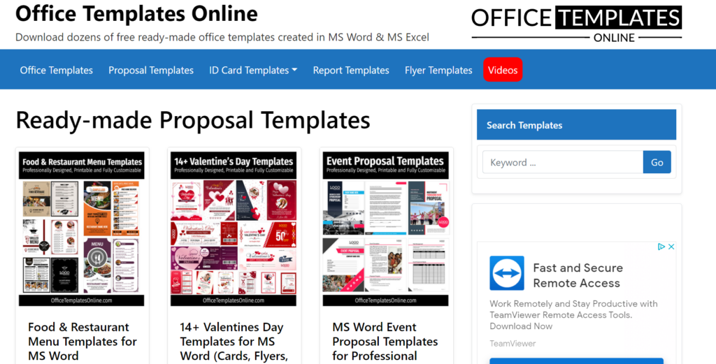 officetemplatesonline.com – download a free business proposal template