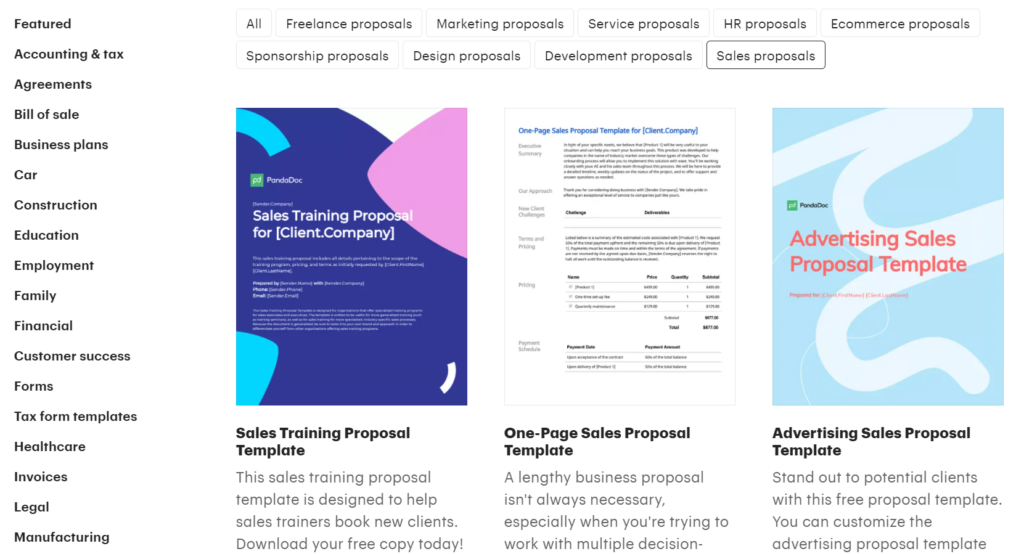 pandadoc.com – find a sales proposal template in DOC to suit your needs