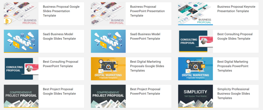 slidesalad.com – get a multipurpose business proposal sample in PPT