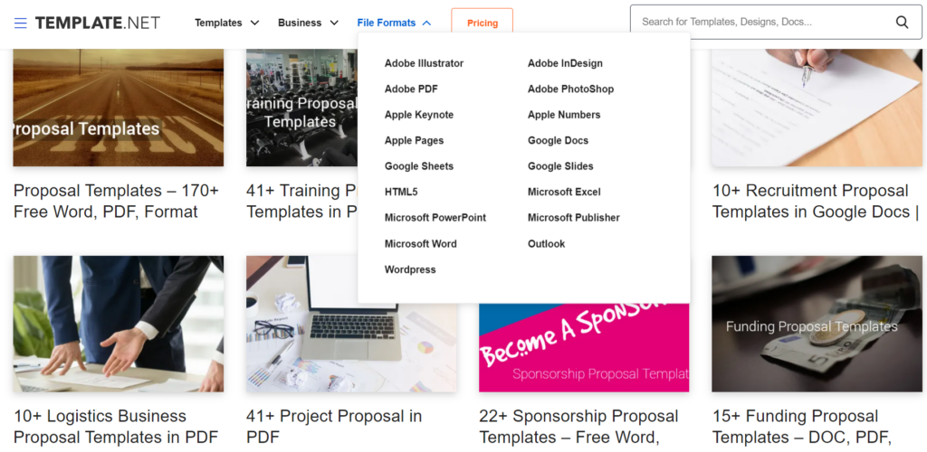 template.net – business proposal templates in all formats